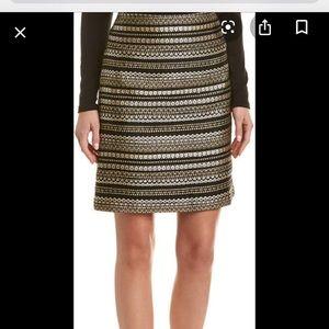 J. MCLAUGHLIN black/gold skirt sz 4